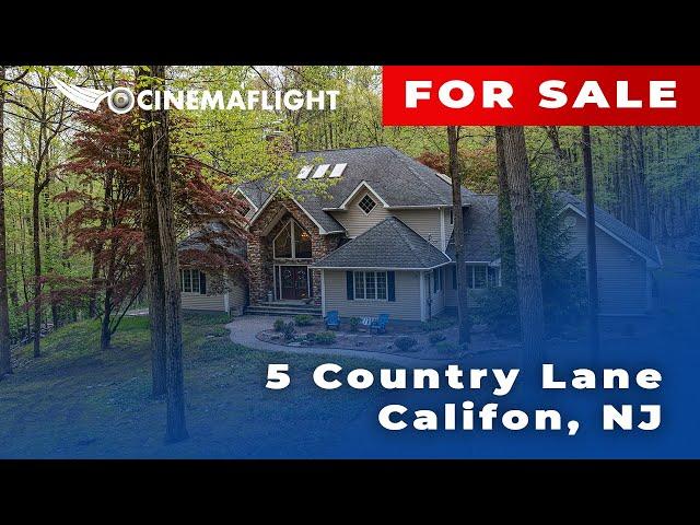 Cinemaflight Property Tours   5 Country Lane, Califon, NJ