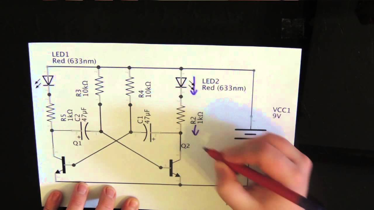 Multivibrator Bistabe Using 555 Timer Working Animation