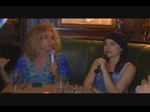 "The ""Penalty Game"" Podcast with Lahna Turner and Carla Collins at Tom Bergin's Irish Pub."