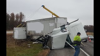 Twisted Truck!!!  Driver Walks Away from Major Crash!!!