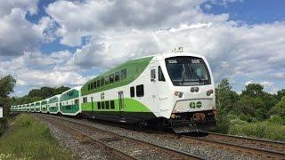 GO Transit & VIA Rail HD 60fps: Lakeshore East Line Trains @ Rodd Avenue Grade Crossing 7/2/16