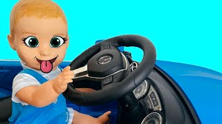 We are in the Car Wheels On The Bus Song Nursery Rhymes & Kids Songs