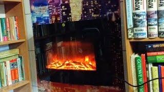 Fireplace LED Kominek elektryczny Blyss Murlo 1900W podświetlany LED