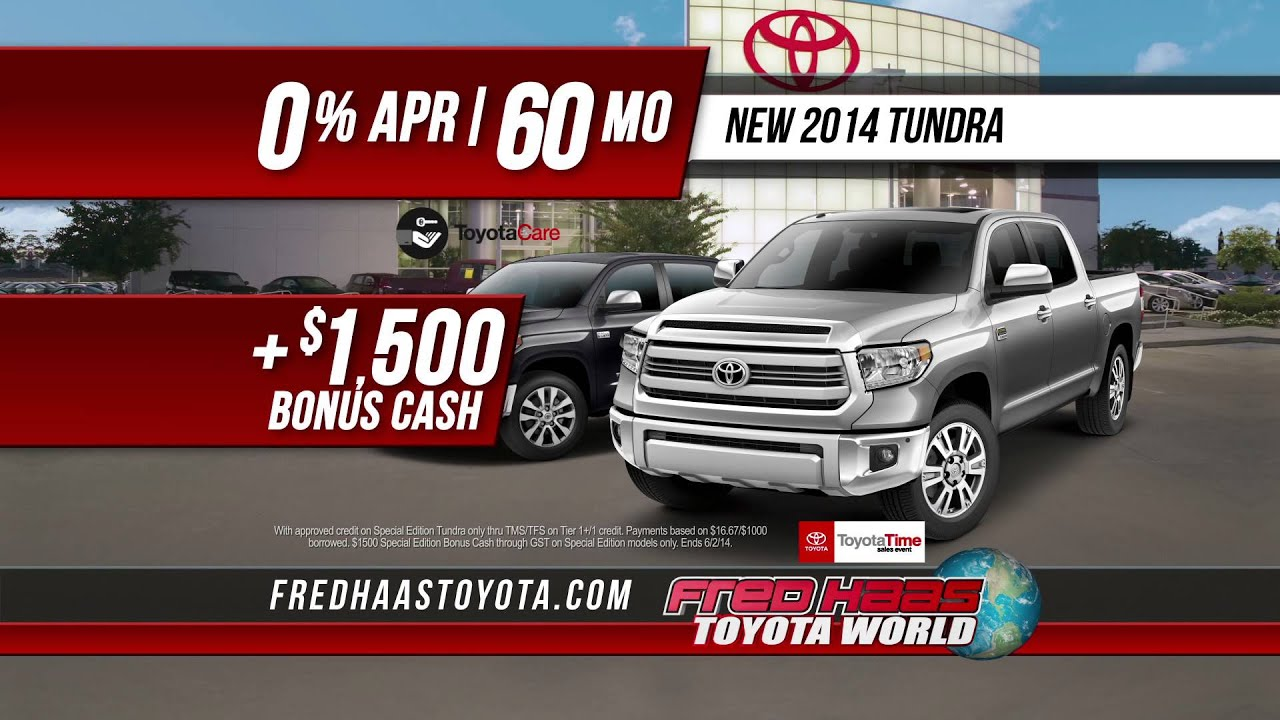 Fred Haas Toyota World Time Tundra Specials May 2017