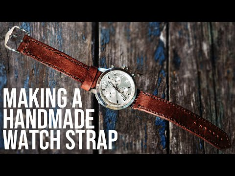 [Leather Craft] - Crafting a new leather replacement Tissot Watch Strap - DIY BUILD ALONG - ASMR