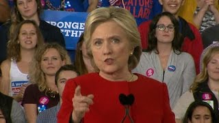 Full Video: Hillary Clinton holds a midnight rally in North Carolina on election eve