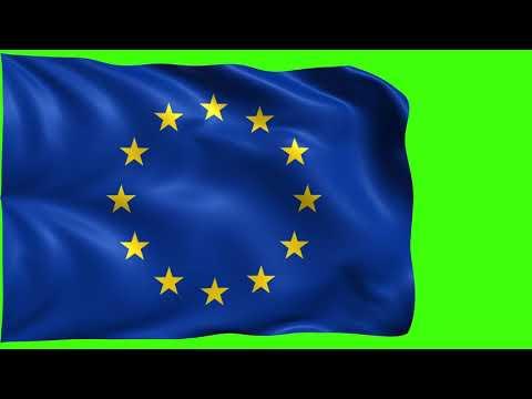 European Union Flag [Chroma, Green Screen, Blue Screen]