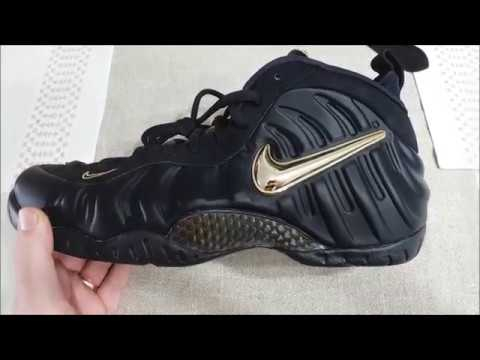 pretty nice ca75f 5fef6 Black/Gold Foamposite Pro 2018 Review