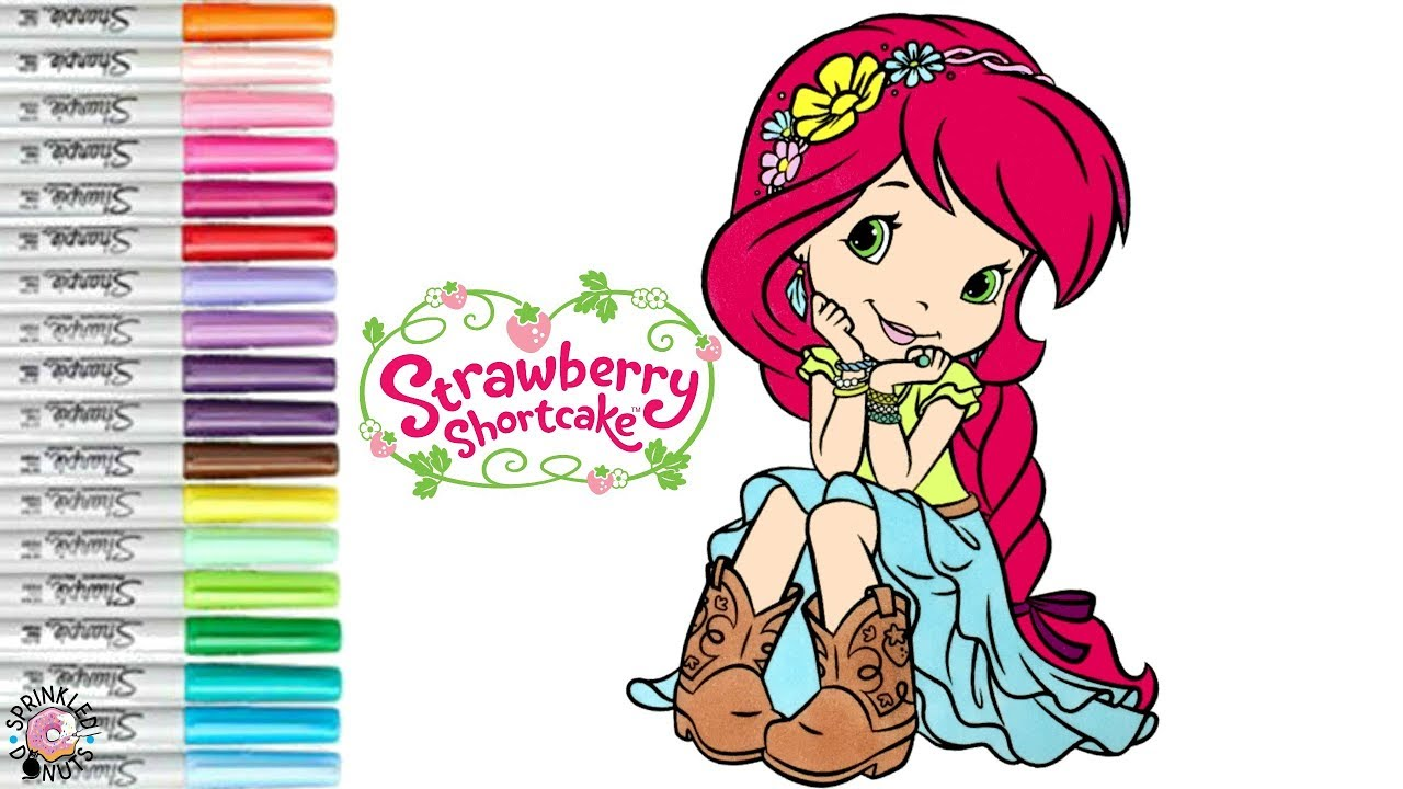 Strawberry Shortcake Coloring Book Page Country Girls Strawberry ...