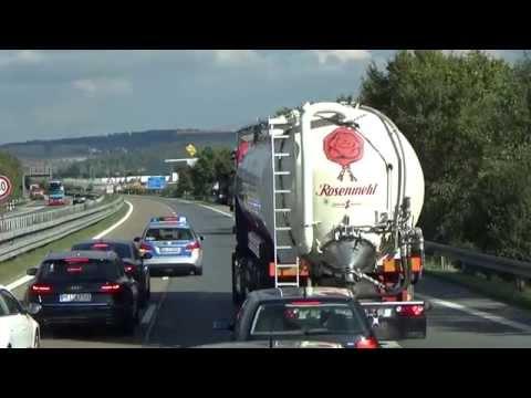 A6 Crailsheim  Polizei stopt den Verkehr wegen Gegenständen auf der Fahrbahn