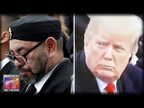 Look What Trump Does To the King of Morocco For Sleeping During WWI Commemoration Ceremonies