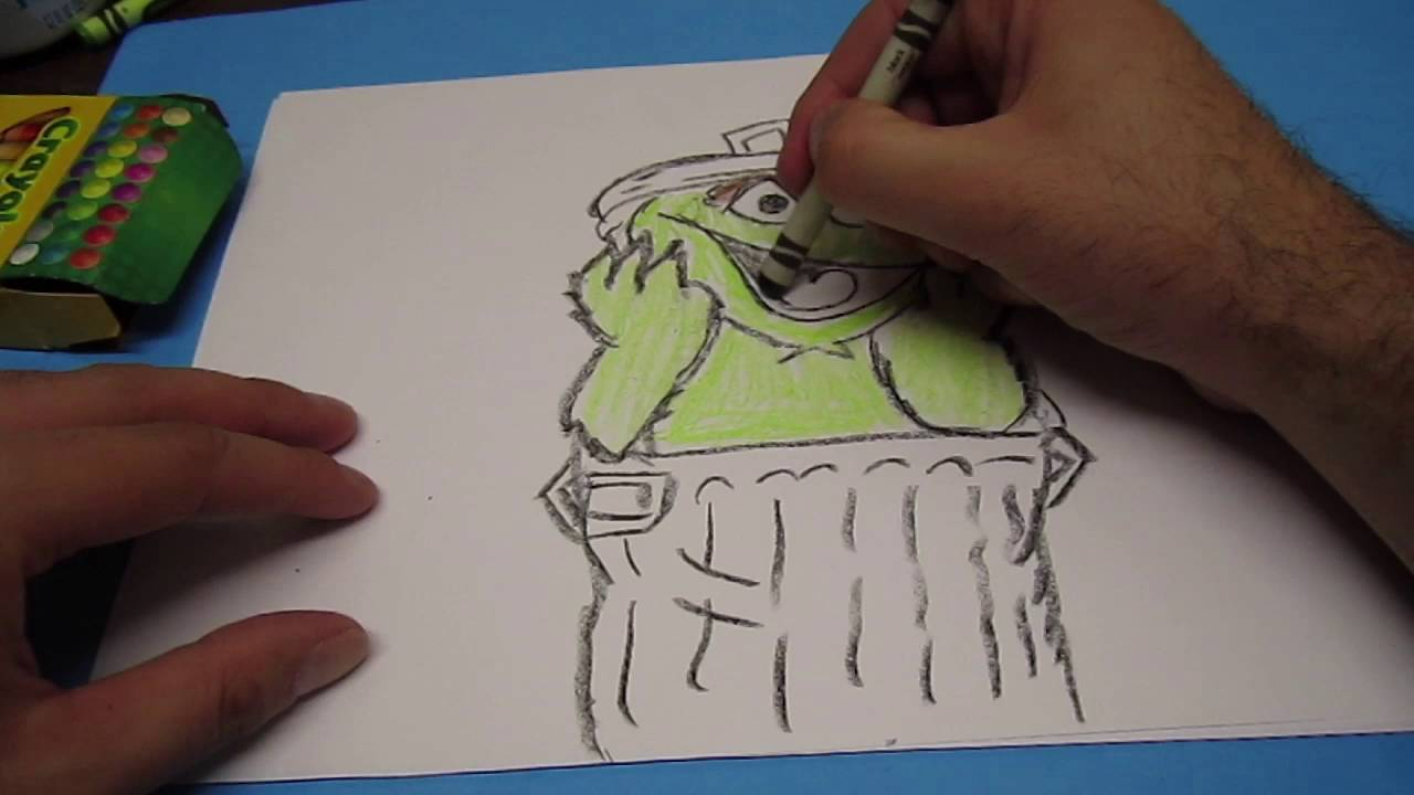 Dada Can You Draw Oscar The Grouch Youtube