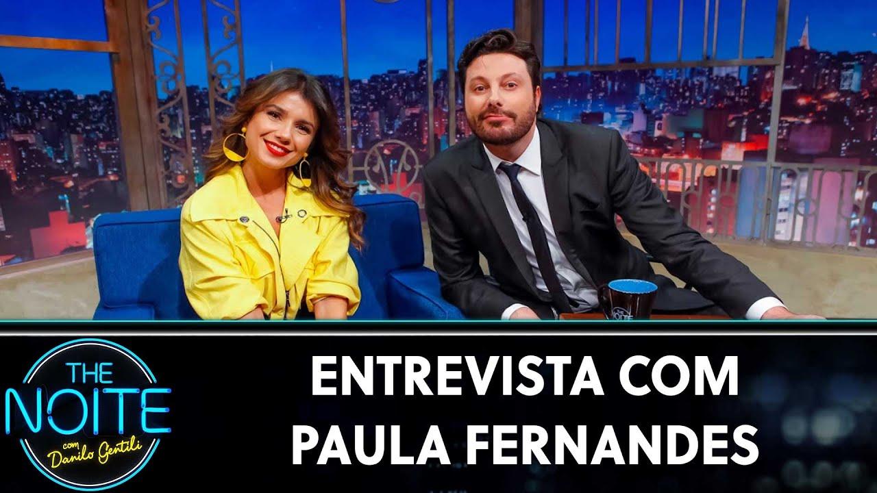 Resultado de imagem para Entrevista com Paula Fernandes | The Noite (08/08/19)