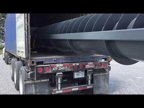 GreenBug Energy off grid Archimedes screw generator- shipping Video 2 of 2
