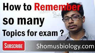 CSIR UGC NET life science preparation lecture - How to memorize so many topics for CSIR UGC NET exam