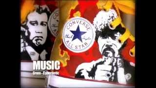 BAMBASTEN / PULP FICTION tribute - Customized sneakers / speed painting converse all star