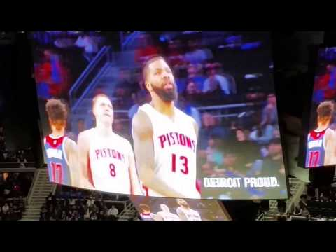 Fourth quarter final game at the palace Detroit pistons basketball