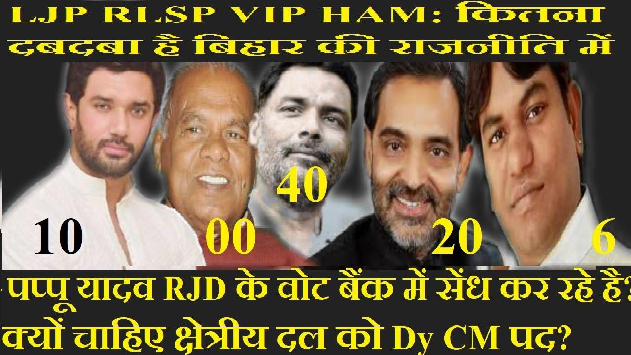 LJP RLSP VIP HAM: कितना दबदबा है बिहार की राजनीति में क्षेत्रीय दल का ?