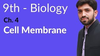 Matric part 1 Biology, Cell Membrane - Biology Ch 4 Cell biology - 9th Class