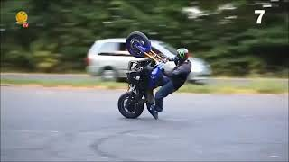 Топ семь трюков на мотоцикле:впустите меня на танспол / Видео