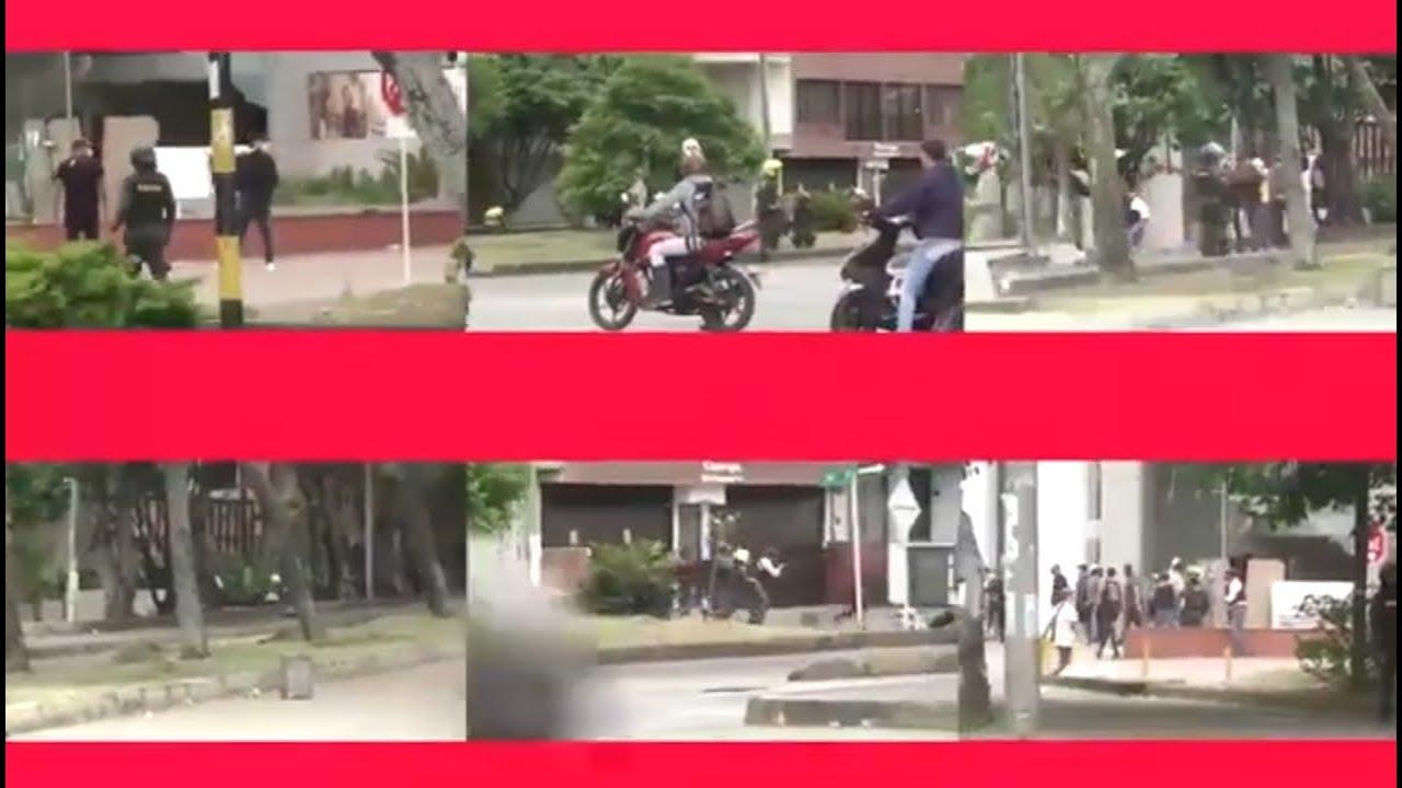 Hubo coordinación entre hombres armados vestidos de civil y la Policía de Cali en Paro Nacional 28M.