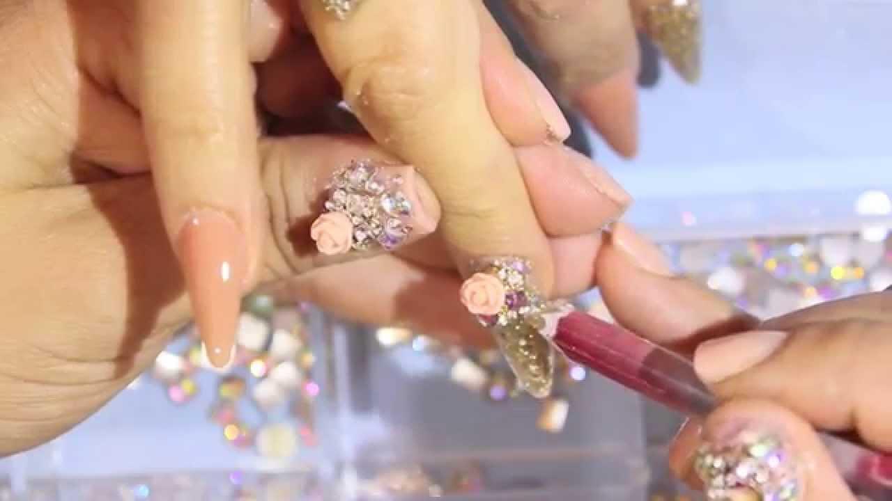 Uñas acrílicas: Lindas y elegantes - YouTube