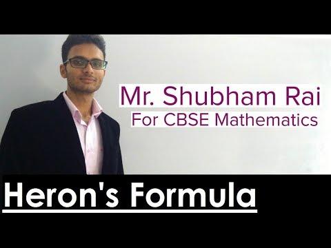 HERON's FORMULA - Class 9th by SHUBHAM RAI (SR) Sir (WISDOM EDUCATION CENTRE)