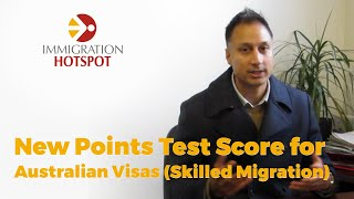 New Points Test Score for Australian Visas (Skilled Migration) from 1 July 2018