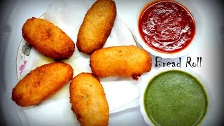 Bread Roll Recipe In Hindi-Bread Potato Roll-Potato Stuffed Bread Roll-Quick and Easy Indian Snack
