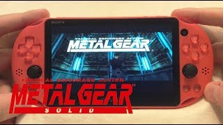 PSVita: Metal Gear Solid PS1 Classic Gameplay
