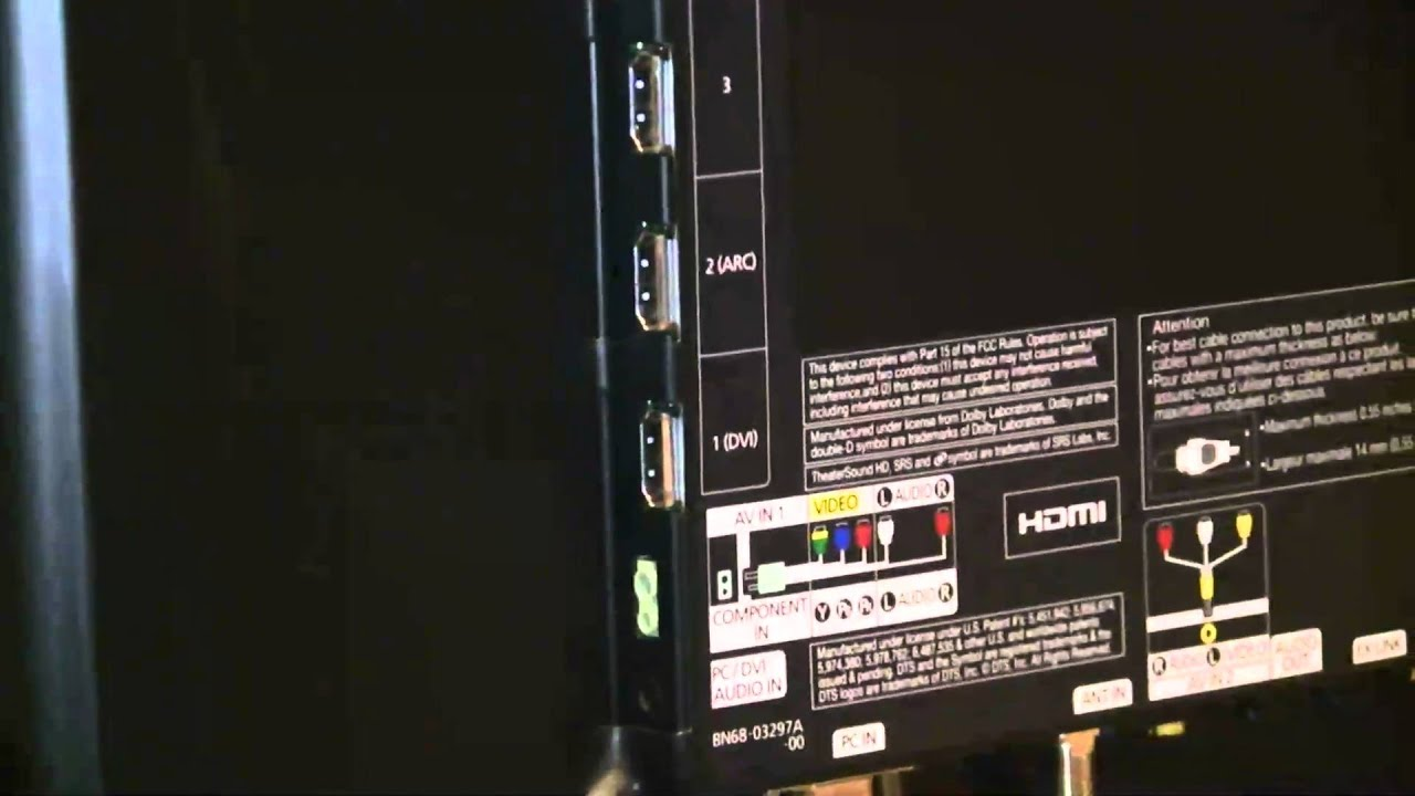 Samsung UN46D6300 back panel  YouTube