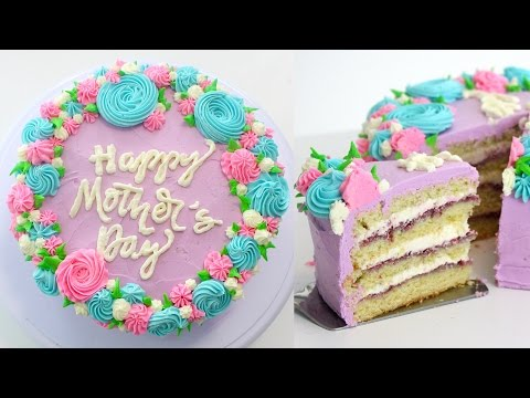 How To Make A Mother's Day Cake + EASY Cake Message HACK | RECIPE