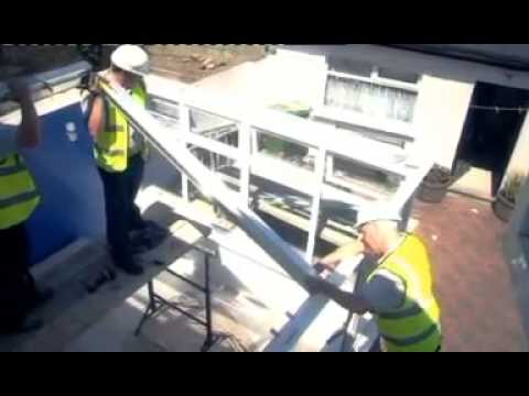 AOWINDOWS Conservatory Roof Replacement - YouTube