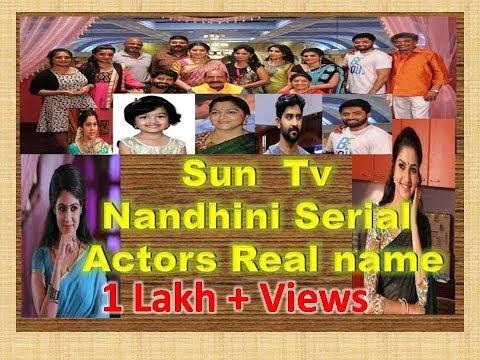 Sun Tv Nandhini Serial Actors Real Name
