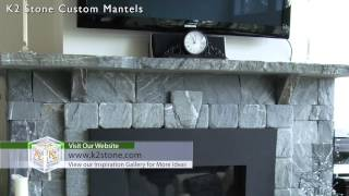 Fireplace Mantel Designs Using K2's Natural Thin Stone