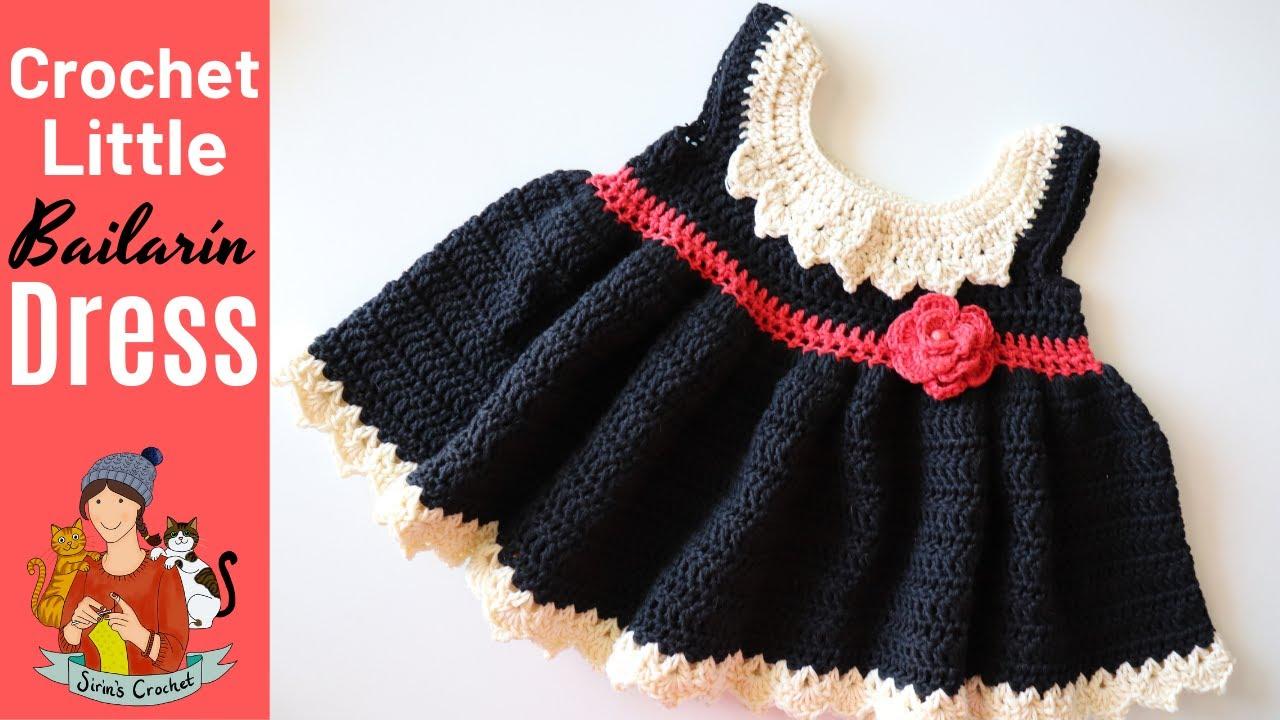 "Crochet Little ""Bailarines de Flamenco"" Baby Dress"