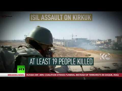 US led coalition strike killed dozens of civilian mourners 30km from Kirkuk – Russian MoD