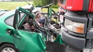 Аварии.Момент аварии с видеорегистратора или камеры очевидцев или участников ДТП (часть 47)