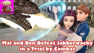 Mal and Ben Defeat Jabberwocky in a Trial by Combat -Part 19- Moana Descendants in Wonderland