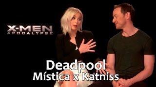 Jennifer Lawrence e James McAvoy falam sobre Deadpool e Mística x Katniss (legendado)