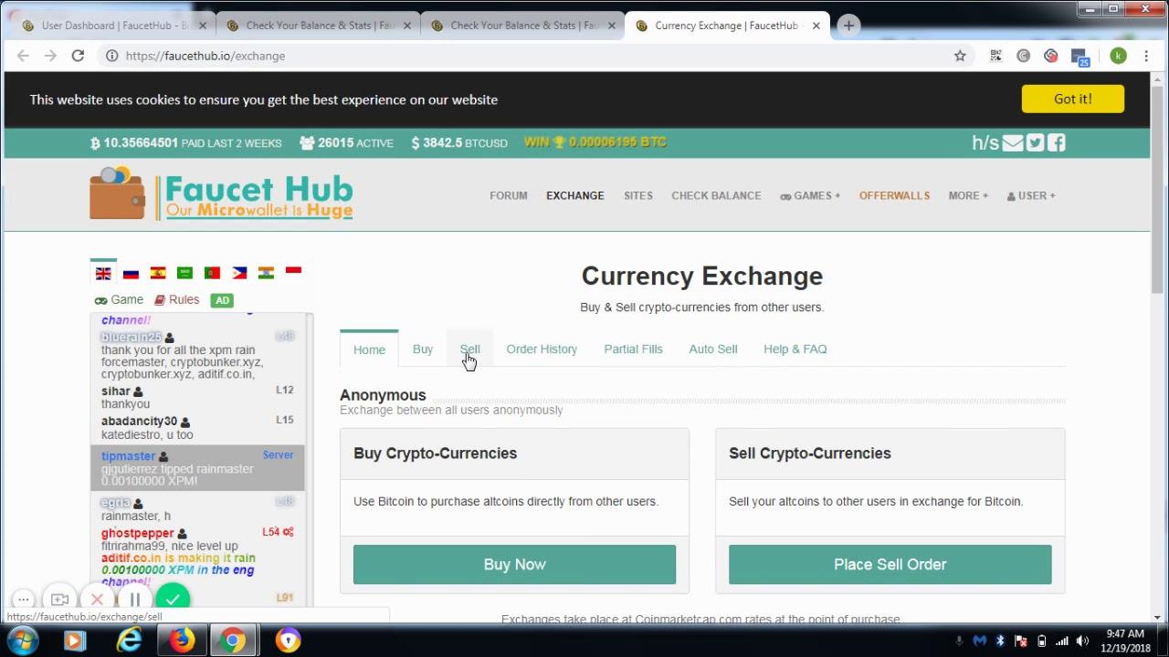 Exchange FaucetHub - Cara Menukar Bitcoin Cash ke Bitcoin