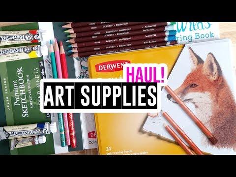 Art Supplies Haul - Rembrandt paints, Derwent pencils, Stillman & Birn