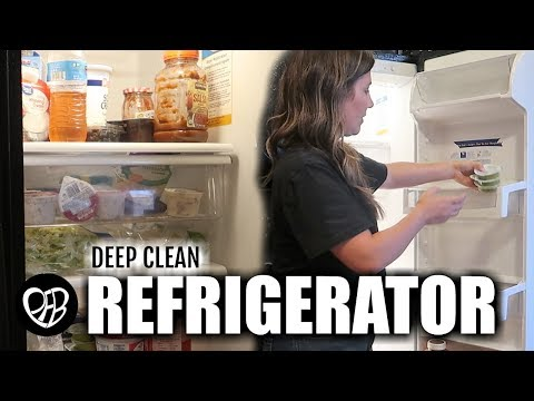EXTREME REFRIGERATOR CLEAN OUT & FRIDGE DEEP CLEAN | Getting Ready for Massive Costco Grocery Haul