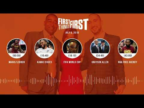 First Things First audio podcast(7.6.18) Cris Carter, Nick Wright, Jenna Wolfe | FIRST THINGS FIRST