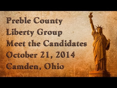 Preble County Liberty Group Meet the Candidates Night 2014