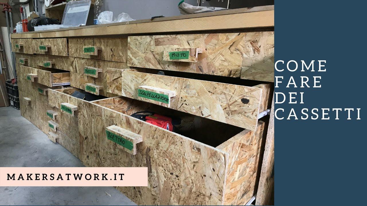 fai da te come fare dei cassetti in legno in modo