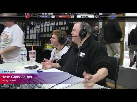Frontier Regional School Boys Basketball vs  Pioneer Valley Regional HS 1/22/18