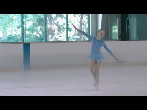 Somewhere 2010 - Ice skating Elle Fanning scene HD