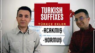 🚩 #LearnTurkish   Turkish Suffixes -Türkçe Ekler   Fiil + -acakmış / -yormuş