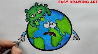 Corona Virus Drawing Save Earth From Coronavirus Youtube